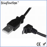 90 grau Carregamento por micro USB cabo de dados