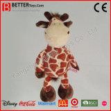 Giraffe molle de peluche de jouet de peluche de caresse pour des gosses de bébé