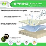 Hoja ajustada protector impermeable del colchón de la tela de Terry del lecho del hogar del surtidor de China el 100%