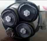 cabo aéreo de alumínio empacotado aéreo isolado XLPE do ABC do serviço 11kv