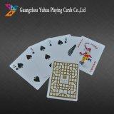 Aduana que hace publicidad de tarjetas que juegan plásticas de las tarjetas que juegan
