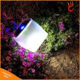 Solar plegable inflables Linterna Lámpara LED para Camping y caminatas por la noche de la luz de linterna
