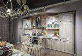 Gabinete de cozinha americano da madeira contínua da mobília da cozinha de Hotsale