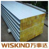 Aislamiento ignífugo de paneles sándwich de lana de roca, la construcción de materiales de construcción