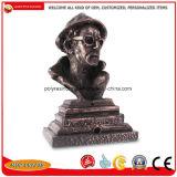 金属亜鉛合金の物質的な図バストの彫像のクラフト