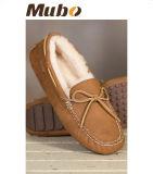 Echtes Leder-Frauen-beiläufige Mokassin-Schuhe für Winter