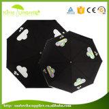 Металл высокого качества Windproof черный для зонтика 3 створок