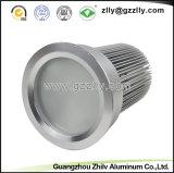 Disipador de calor de aluminio anodizado fábrica del LED para la lámpara