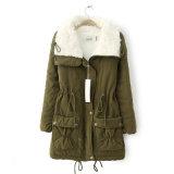 Пальто женщин шерсти ворота пальто повелительниц Parka куртки зимы женщин