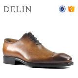 Высокое качество мужчин дышащий прочного официальных кожаную обувь
