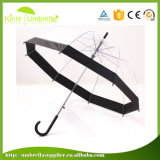 昇進のための卸し売り赤い端の透過まっすぐな傘