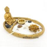 Украшение сада Дзэн Будды подарка раздумья нового типа золотистое