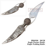 Напольная складывая ручка 21cm мотоцикла ножа ножей звероловства ножа ся