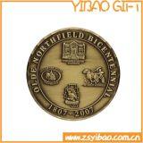 Moneta dell'aeronautica del metallo di alta qualità con oro placcato (YB-c-037)