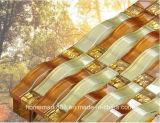 De in het groot Goedkope Met de hand geschilderde Gouden Tegel van het Mozaïek van het Glas van het Kristal
