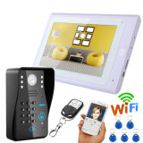 "7 "" TFT verdrahtetes/drahtloses WiFi RFID Kennwort Homeade video Doorphone Wechselsprechanlage"