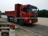 Mini asse utilizzato di Dongfeng 4*2 dell'autocarro con cassone ribaltabile doppio 10 tonnellate