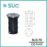 11.5W IP65 rundes LED Inground Licht