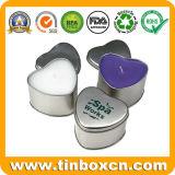 Het aangepaste hart-Gevormde Tin van de Kaars van Aromatherapy van het Blik van het Tin van het Metaal