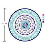 (BC-RT15215) 100%年の綿の円形のビーチタオル