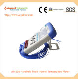 Termómetro de temperatura multicanal fábrica chinesa (A4208)