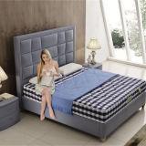 Новая самомоднейшая неподдельная деревянная кожаный кровать для гостиницы G7009