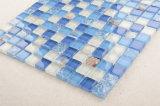 10X10 синий и белый цвета в Shell шаблон стеклянной мозаики в ванной комнате плитка