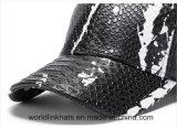 Excelente qualidade de painel 6 Faux pele de cobra Boné exterior em branco