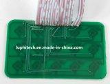 Cúpulas de metal verde chapado de máscara de soldadura PCB rígido con cables