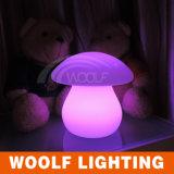 Lumière colorée de nuit du champignon de couche DEL de bureau de lampe de Tableau
