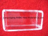 Bailo tipo pequeño Cuadrado en Cuarzo transparente de vidrio de sílice crisol crisol