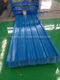 A classe superior corrugou-se/placa de telhadura de aço trapezoidalmente/vitrificada de PPGI/PPGL