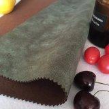 Neues Veloursleder-Gewebe mit Komplex in der Kaffee-Farbe