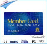Cartão personalizado 85,5*54mm impressão clara de PVC Cartão de visita de um lado de plástico transparente com holograma impresso Business