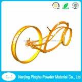 Gelbe Puder-Beschichtung für Fahrrad-Rad-Naben-Beschichtung