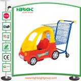 Supermarché Panier avec voiture jouet et roues de l'élévateur