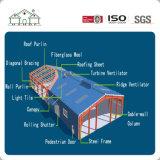 Estructura de acero de la luz el bastidor de acero de almacén taller Prefabricared
