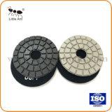 stootkussens van de Diamant van het Graniet van 80mm de Zwarte Natte Oppoetsende Bleekgele