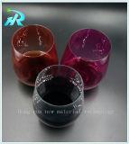 Taza de consumición plástica del vidrio de vino del animal doméstico