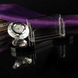 Klok Van uitstekende kwaliteit van het Glas van de Klok van het Bureau van het Kristal van de Kunst van de Gift van het kristal de Lege