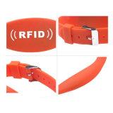 G019-O NFC Ntag216 SilikonWristband der Chip-Faltenbildung-13.56MHz RFID