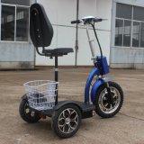 Adulto plegable 500W 3 ruedas Scooter de movilidad eléctrica con cesta