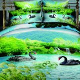 Impreso de poliéster conjunto de ropa de cama doble cama King Size de dibujos animados para niños