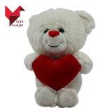 O luxuoso quente do Valentim do presente da promoção de venda encheu ursos dos brinquedos com coração