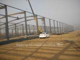 La estructura de acero del palmo largo de acero ligero de la construcción va abajo de almacén