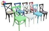 X-Back Croix rustique Retour bois de hêtre chaise avec grain blanc