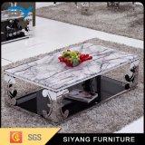 Muebles en mesa de centro de mármol moderna unida del estado con el cajón