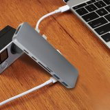 7en1 Interruptor de funciones múltiples Typ-C/adaptador HDMI 3.0 USB Hub USB Hub MacBook por C