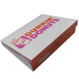 350gsm beignets Boîte en carton blanc avec du matériel de qualité alimentaire