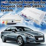 Android Market 6.0 Interface caixa de navegação GPS para 2014-2018 Peugeot-2008/208/508/408 Smeg+ Suporte On-line Mapa Mirrorlink WiFi